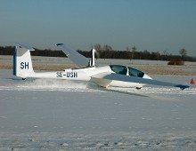 Självstartande segelflygplan