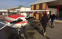 Idag har vi tvättat och vaxat våra flygplan