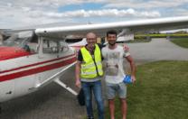 Grattis till första EK flygning – Stephan Garancsi